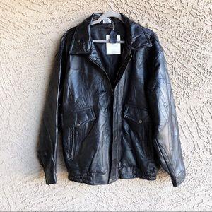 Vintage Jackets Coats Vtg Flight Path Nwt 90s Leather Patterned